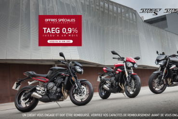 OFFRE TAEG 0.9% TRIUMPH STREET TRIPLE 765