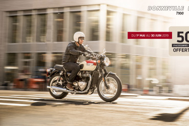 500€ de bons d'achat sur Bonneville T100 & T100 Black